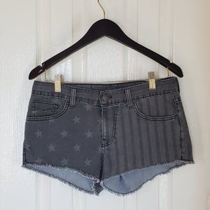 Vans  Stars & Stripes  Mid Rise Booty Shorts sz 9